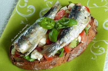 Tartines aux sardines