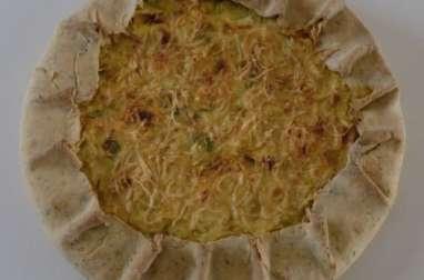 Tarte rustique à la ricotta, poireaux et chorizo