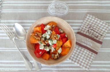 Salade de melon et pastèque au roquefort (Melon and watermelon salad with roquefort)