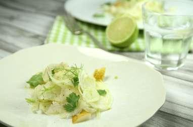 Salade fenouil, poire et coriandre