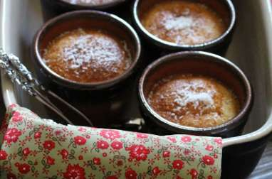 Gâteau magique Noix de coco au bain-marie