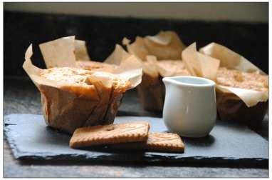 Muffins au café, coeur de spéculoos