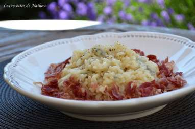 Risotto au gorgonzola et à la pancetta