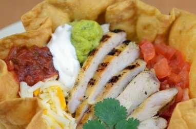 Tortilla chalupa, bol, saladier, corolle la technique pour taco, salades...