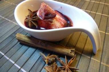 Figues rôties au Monbazillac, au miel et à la cannelle