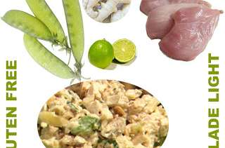Salade de poulet citronnée épicée au gingembre (basses calories, sans gluten)