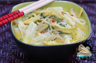 Soupe de poulet aux nouilles asiatiques