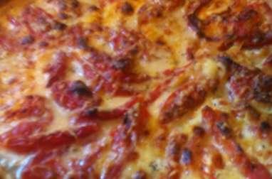 Tarte feuilletée aux aubergines, tomates, mozzarella, parmesan (Italie)