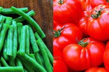 Haricots en gratin, à la tomate, moutarde et crème