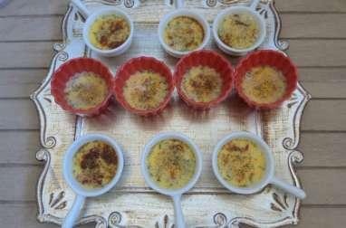 Crème brûlée aux tomates séchées et basilic