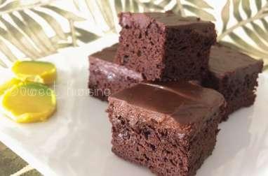 Le brownie au chocolat et à l'avocat