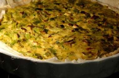Tarte aux poireaux et Curry
