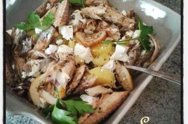 Salade de pommes de terre au maquereau et à la feta