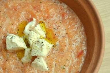 Soupe froide au Melon et à la Mozzarella