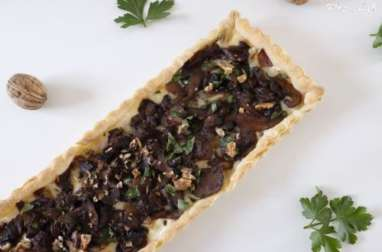 Tarte fine aux champignons et gorgonzola