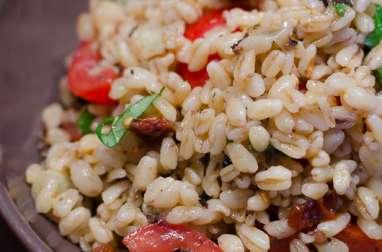 Salade d'Ebly assaisonnée à la tapenade