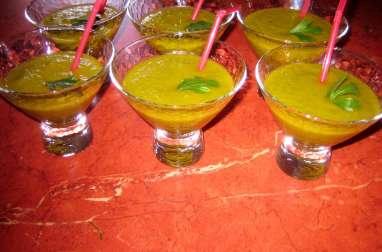 Gaspacho de melon-concombre-basilic