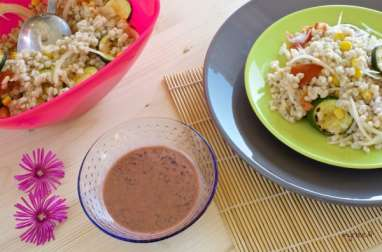 Une salade d'orge mondée (vegan)
