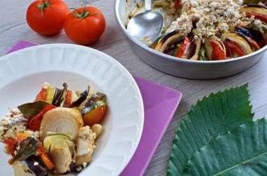Un crumble salé aux légumes (vegan)