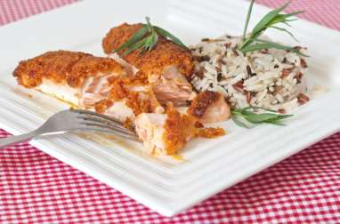 SAUMON en Croûte de Chorizo