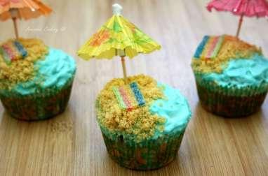 Sea, cupcake and sun