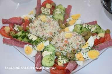 Salade de riz thon macédoine