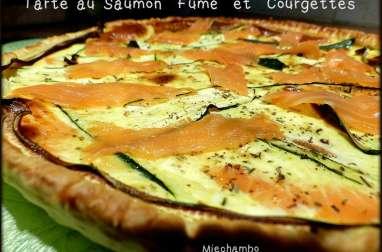 Tarte au saumon fumé et courgettes