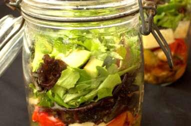 Salade façon fajitas en Mason Jar