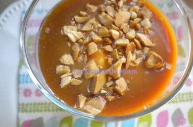 Sundae maison caramel-amandes