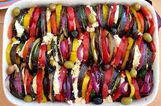 Tian de Légumes du Soleil Mozzarella Olives