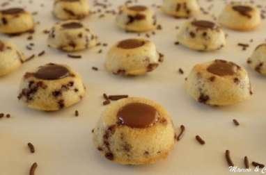 Financiers tigrés cœur chocolat caramel