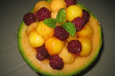 Salade de fruits en billes