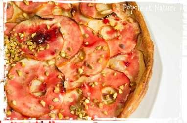 Tarte aux pommes et confiture de mûres
