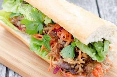 Sandwich Banh Mi au Pulled Pork
