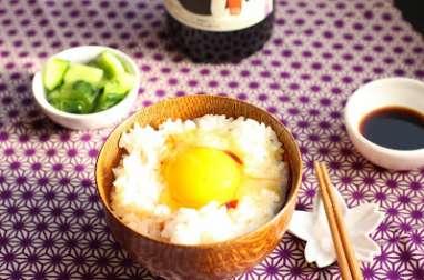 Oeuf sur bol de riz comme au Japon