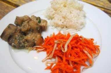 Salade d'aubergines et salade de carottes râpées