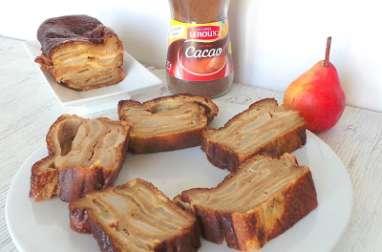 Cake à la brioche, aux poires et à la Chicorée Leroux au cacao