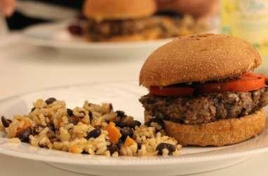 Burger végétarien aux haricots noirs et patates douces