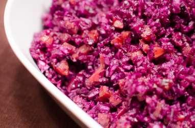 Salade de chou rouge aux lardons