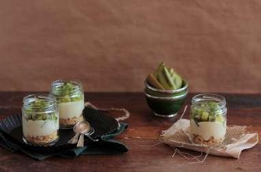 Tarte Kiwi et Crème Pâtissière en Verrine