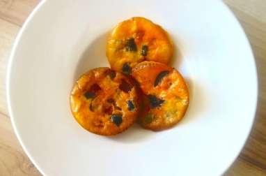 Mini clafoutis au chorizo, aux olives vertes