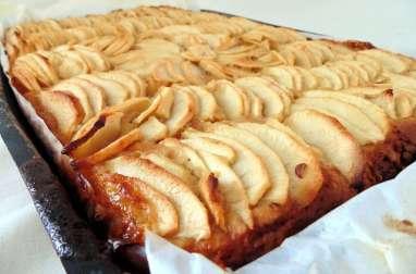 Tarte aux pommes sur crème d'amande