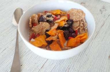 Céréales aux fruits secs (mangue, cerises et baies de goji)
