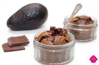 Fondant au chocolat et avocat