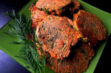 Pancakes aux carottes fanes