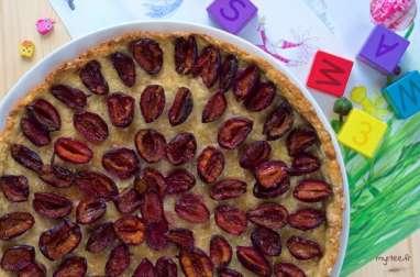 Tarte-biscuit aux prunes (vegan)