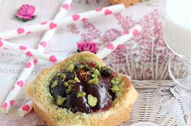 Mini-amandine pistache et figues fraîches