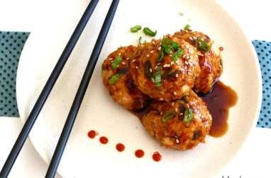 Boulettes de poulet teriyaki