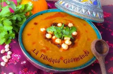 Soupe Marocaine aux Pois Chiche et Potiron
