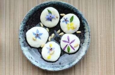 Pancakes coréens aux fleurs